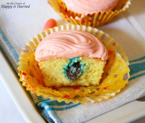 Robins Egg Easter Candy Surprise Cupcake