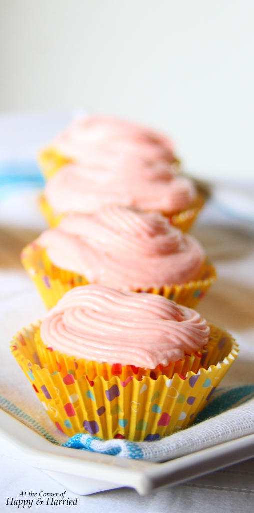 Spring Cupcake With Pink Frosting