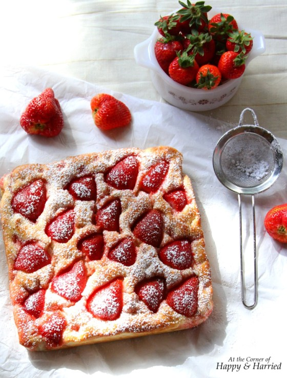 Focaccia Bread With Strawberries