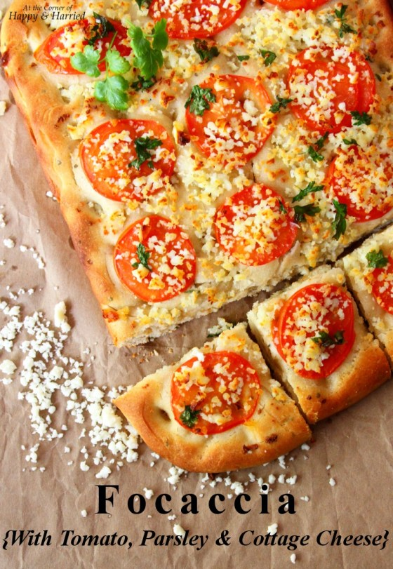 Focaccia {With Tomato, Parsley & Cottage Cheese}