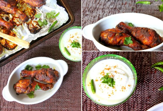 Soy Sauce & Indian Spiced Chicken With Whipped Yogurt Dip