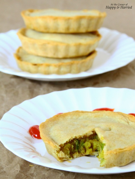 Baked Mini Samosa Pies With Potatoes-Peas Filling