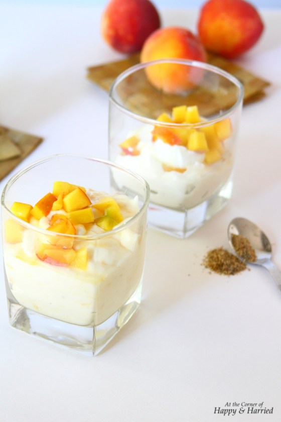 Cardamom & Peach Flavored Shrikhand Cups (Sweetened Yogurt)