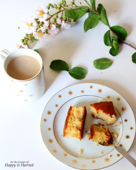 Honey, Lemon & Yogurt Cake with Coffee or Tea