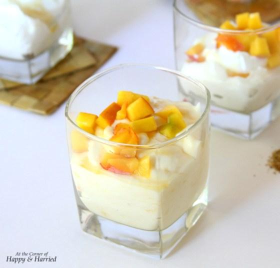 Sweetened Cardamom & Peach Hung Yogurt - Shrikhand