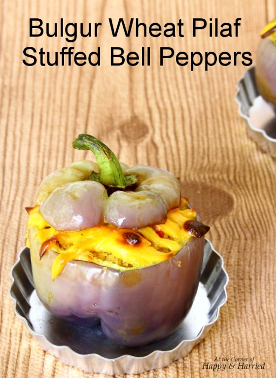 Bulgur Wheat Vegetable Pilaf Stuffed Bell Peppers