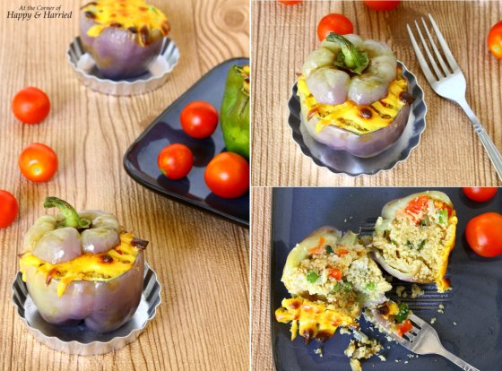 Peppers Stuffed With Bulgur Wheat Vegetable Pilaf