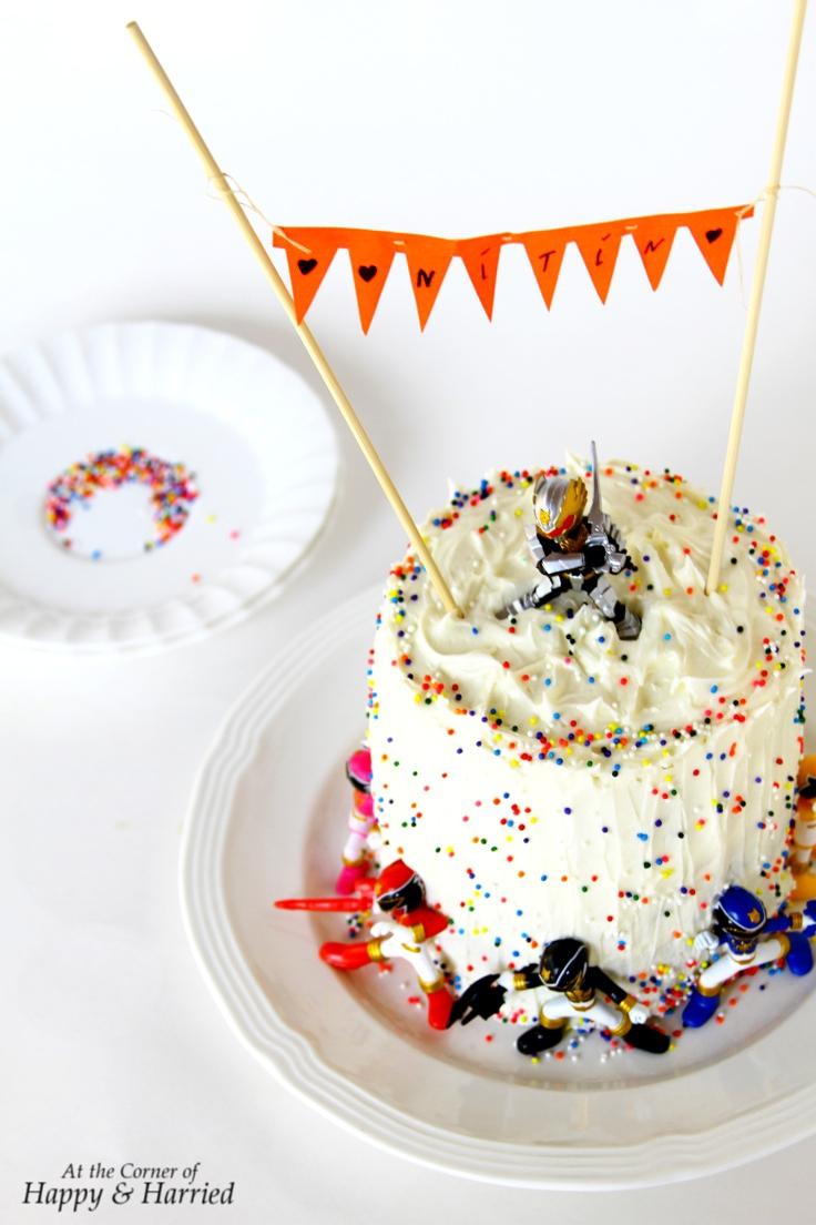 Superb Power Rangers Megaforce Birthday Cake Funny Birthday Cards Online Inifodamsfinfo