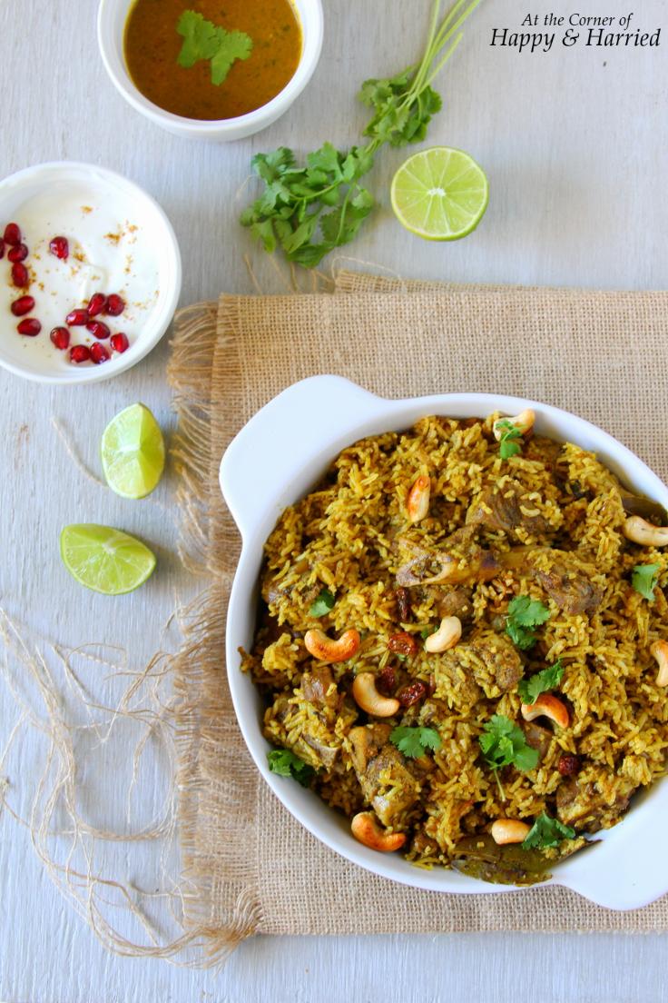Spicy Tamil Style Mutton or Lamb Biryani
