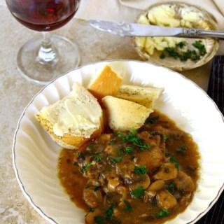 Red Wine-Braised Chicken And Mushrooms {Almost Coq Au Vin}