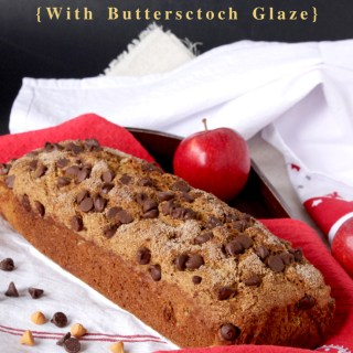 Whole Wheat Quick Apple Bread {With Butterscotch Glaze}