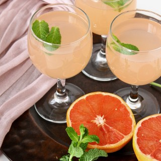 Grapefruit Juice {With Ginger Simple Syrup}