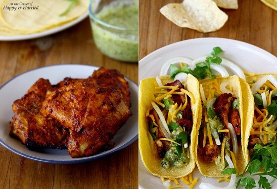 Corn Tortilla Tacos With Spicy Grilled Chicken & Salsa Verde