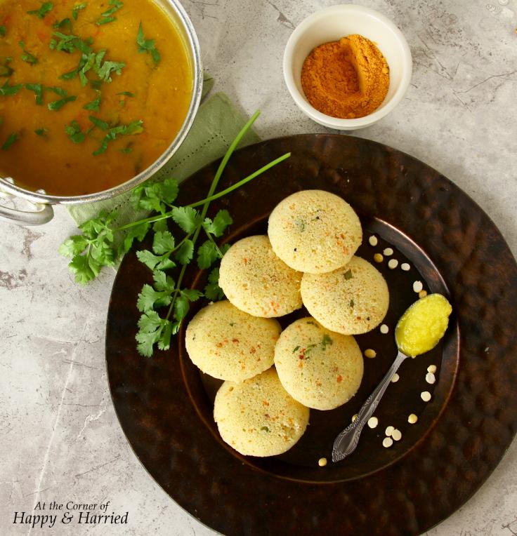 Instant Rava Idli and Tiffin Sambar - Great Indian Breakfast