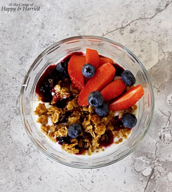 Yogurt, Berry And Granola Parfait