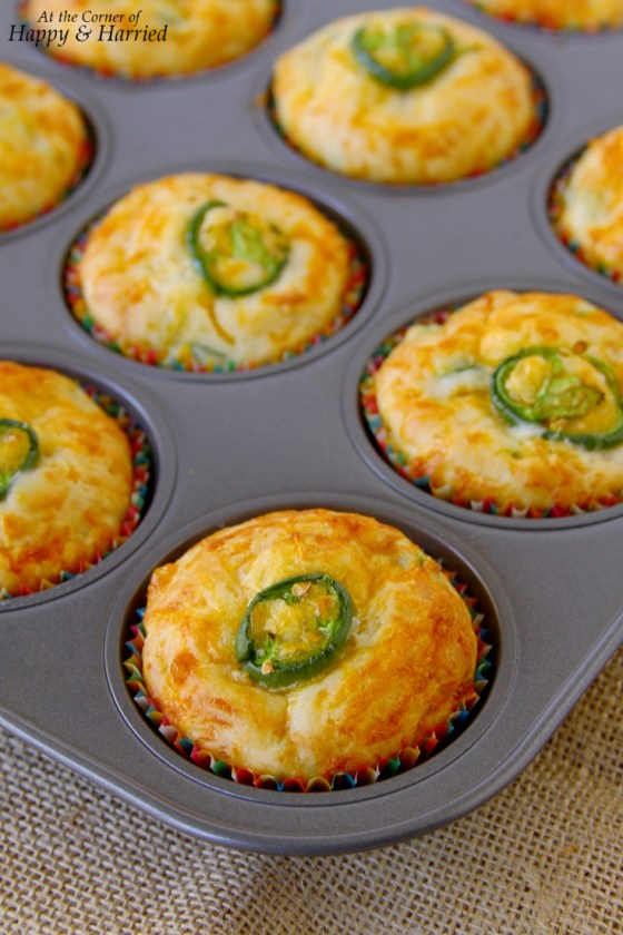 Homemade Jalapeno Cheddar Muffins