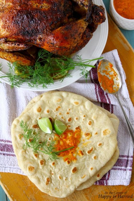 Roast Chicken And Greek Flatbreads