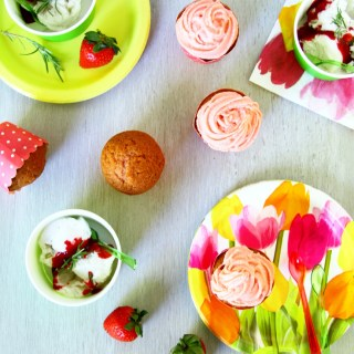 Sweet Spring Desserts {Strawberry Cupcakes And Coconut Milk Ice Cream}