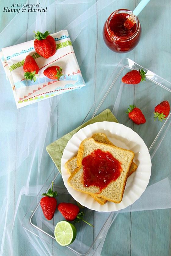 Chunky Strawberry Jam on Toast