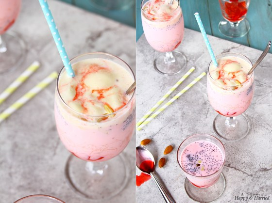 Falooda Dessert Beverage With Vanilla Ice Cream