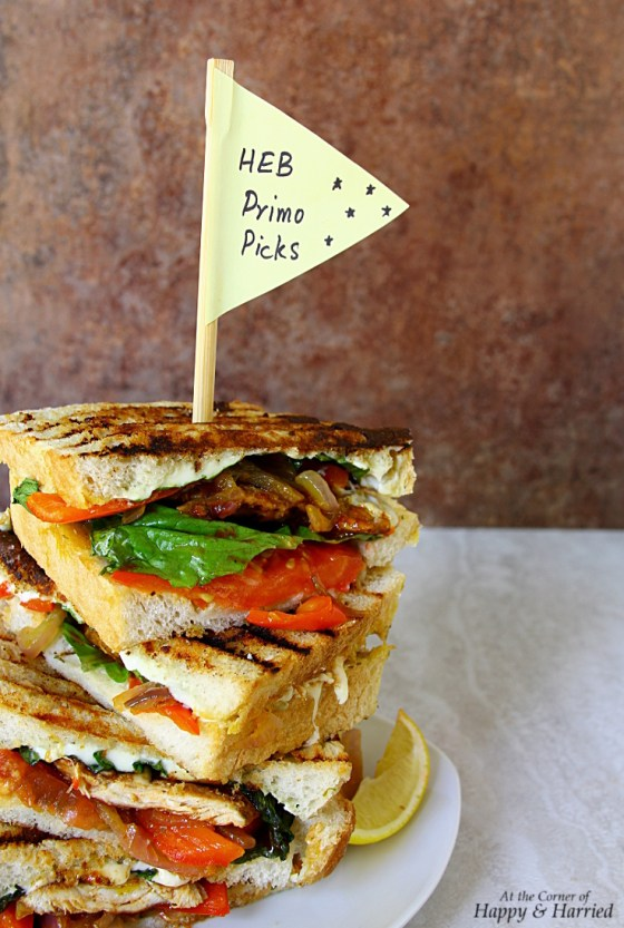 Loaded BBQ Chicken Panini Sandwich for HEB Primo Picks