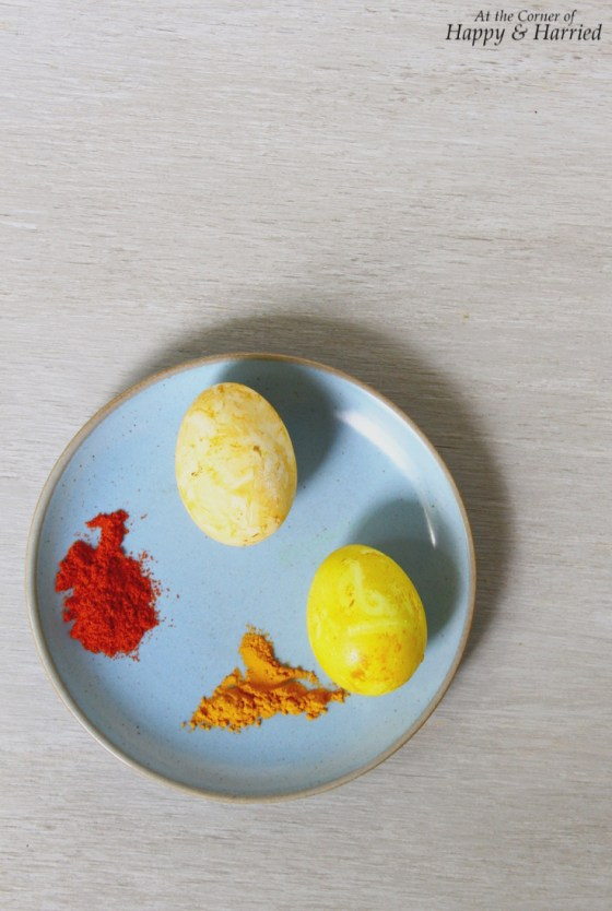 Using Spices to Dye Eggs