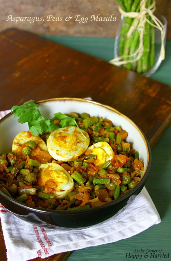 Asparagus, Green Peas And Egg Masala