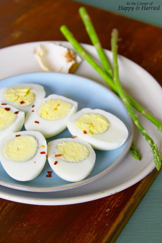 Hard Boiled Eggs For Asparagus-Egg Curry