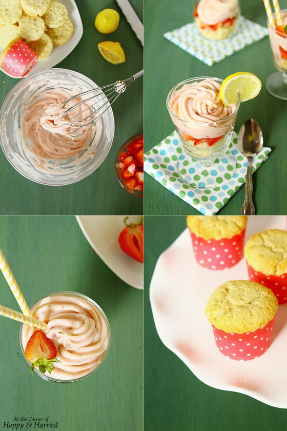Lemon-Strawberry Cream Cheese Parfait