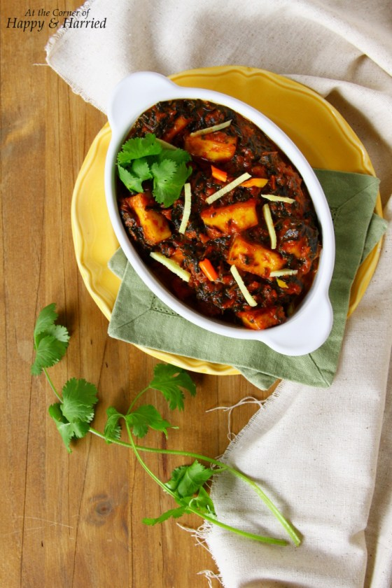 Saag Paneer {Indian Greens & Cottage Cheese Curry}