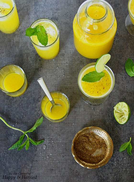 Aam Panna Drink (Green Mango Summer Cooler With Roasted Spices, Mint And Lime)