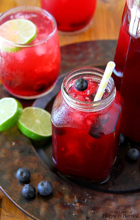 Blueberry Limeade (or Lemonade) For Summer Parties