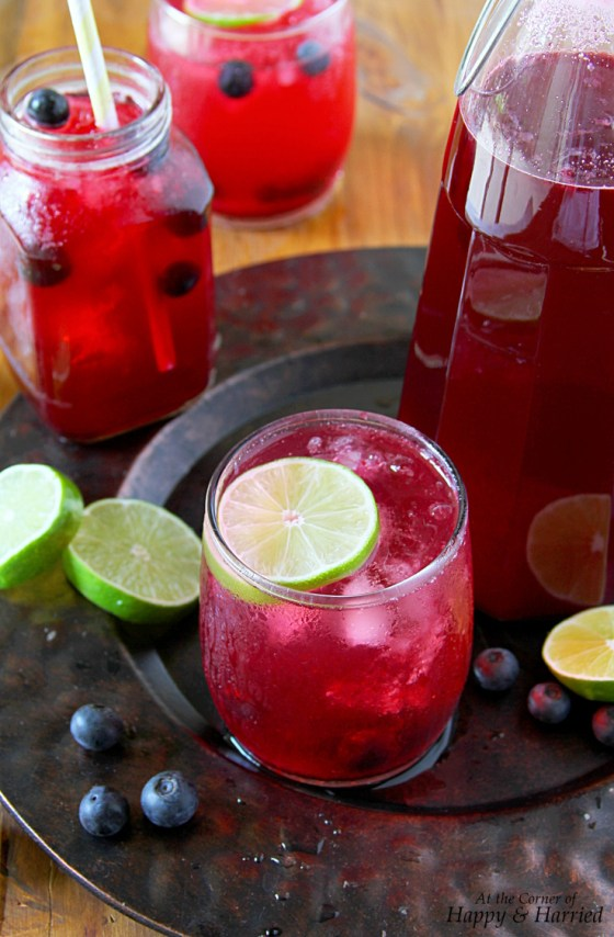 Blueberry Limeade Summer Beverage