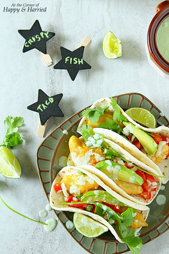 Crispy Fish Tacos With Jalapeno-Cilantro Yogurt Sauce