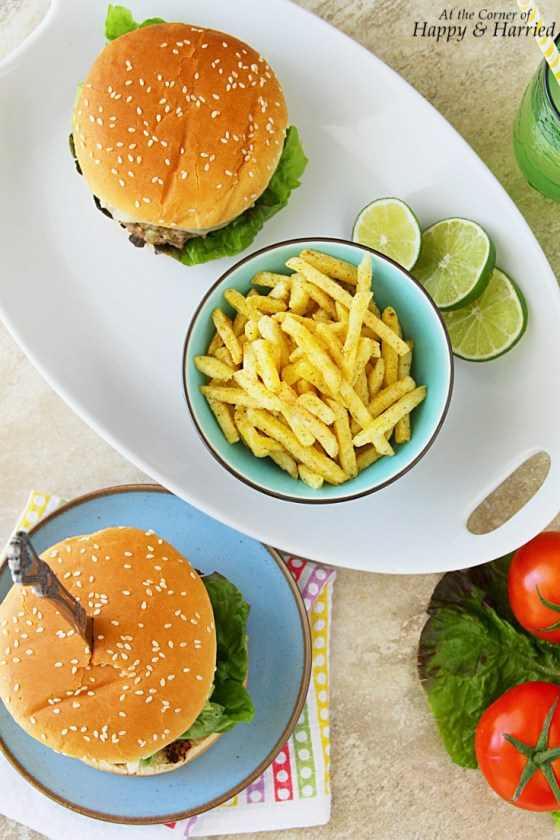 Guac And Roll Guacamole Cheeseburgers With Fries