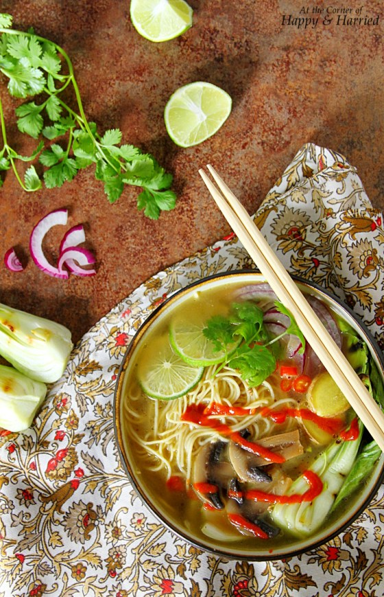Pho-Inspired Asian Noodle Soup With Chicken And Vegetables