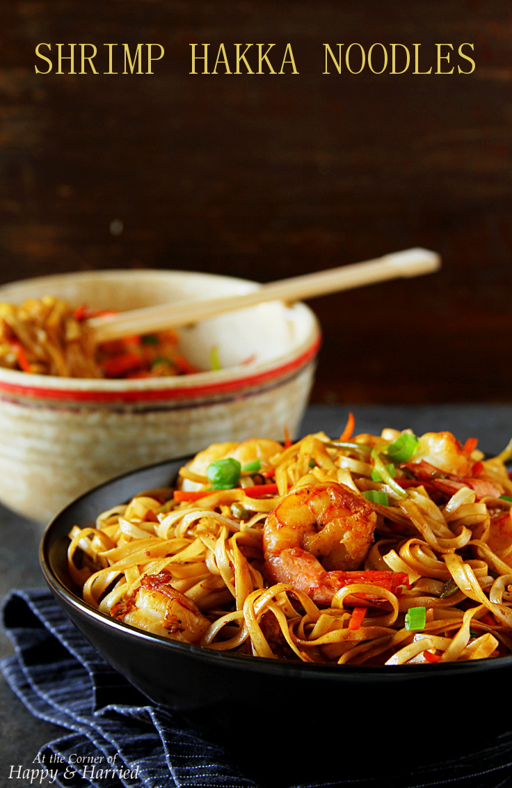 Indo-Chinese Take-out Shrimp Hakka Noodles