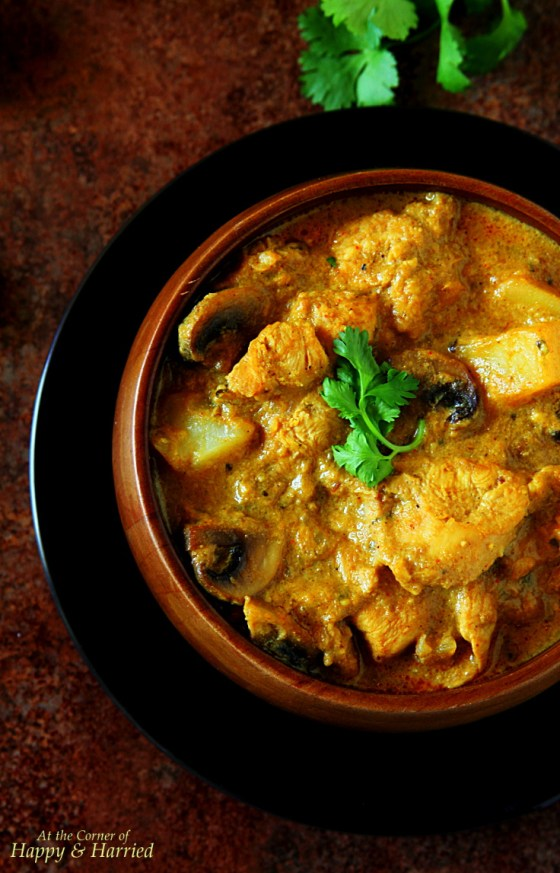 Chicken Mushroom Korma With Cashews & Coconut Milk