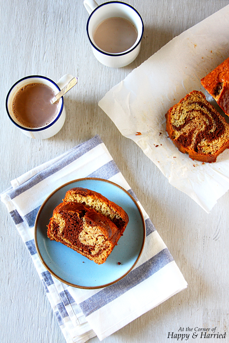 Chocolate Swirled Banana Bread Loaf