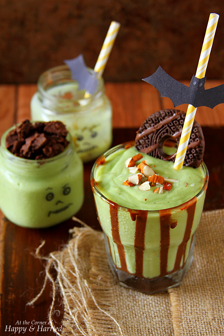 Halloween Green Monster Shake (Avocado-Banana-Almond Shake)