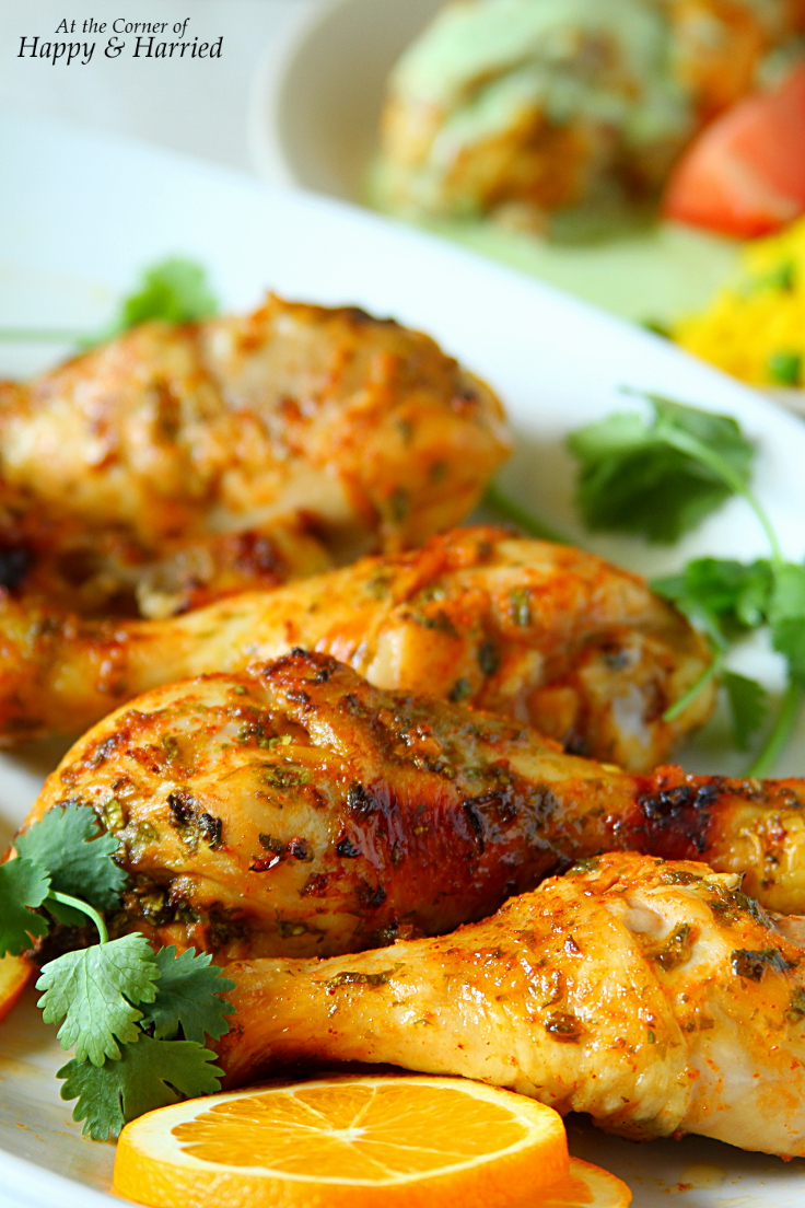 Oven Baked Cilantro-Orange-Sriracha Chicken
