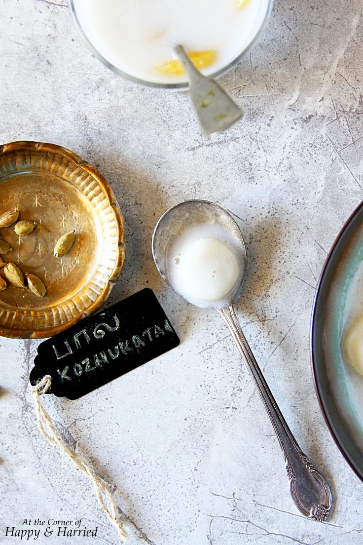 Paal Kozhukattai {Rice Dumplings in a Sweet Coconut Milk Pudding}