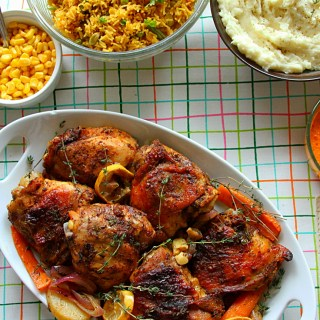 Blackened Spiced Roasted Chicken & Our Indo-American Thanksgiving