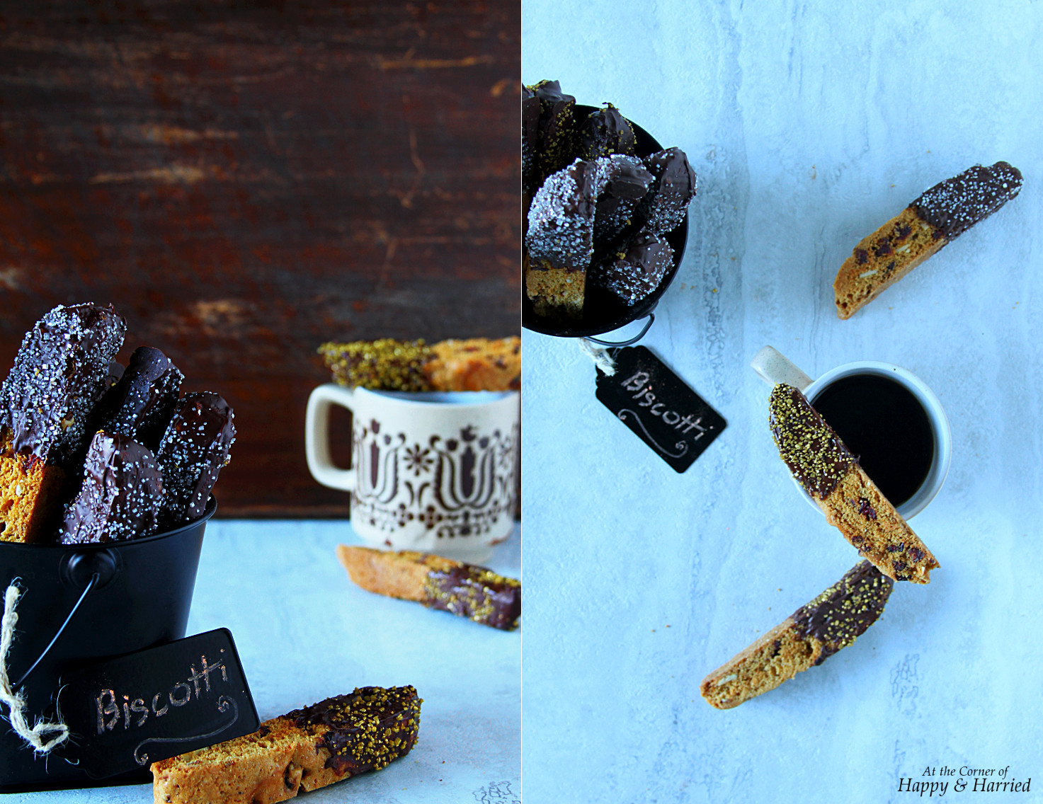 Chocolate Dipped Cranberry-Almond-Brown Sugar Biscotti