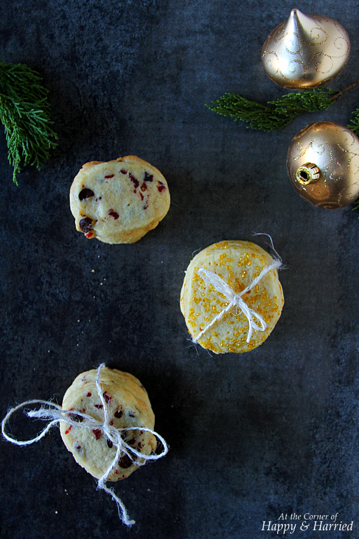 VANILLA SUGAR COOKIES {Cranberry-Chocolate & Sugar Sprinkles}