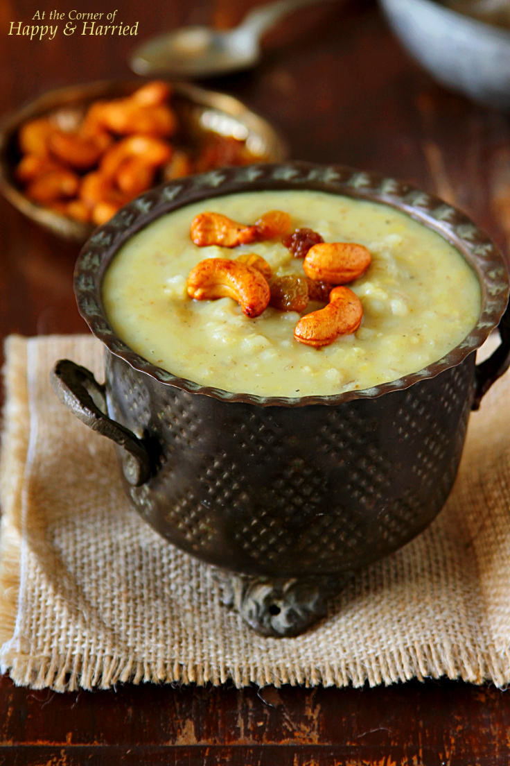 Barley Sweet Pongal {Barley and Jaggery Pudding}