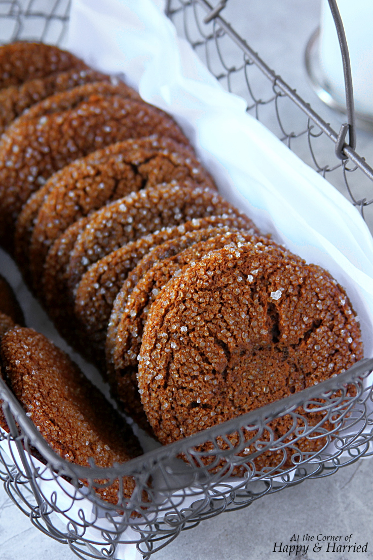 Chewy Spiced Dark Molasses Cookies