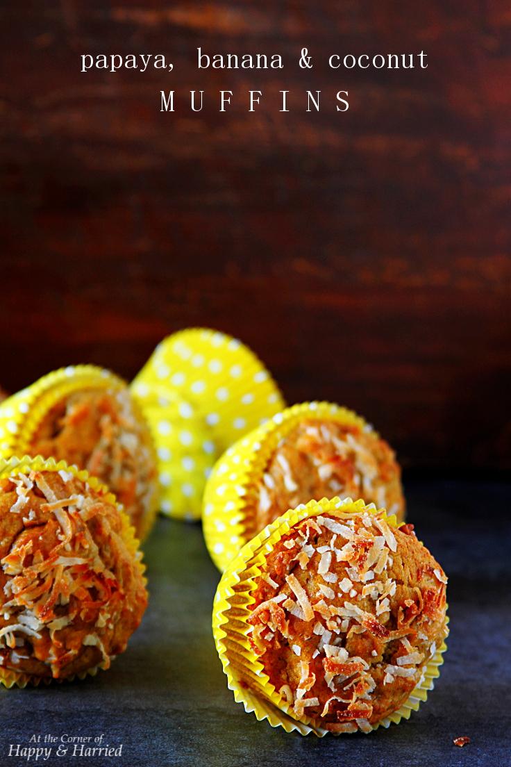 Papaya, Banana & Coconut Muffins