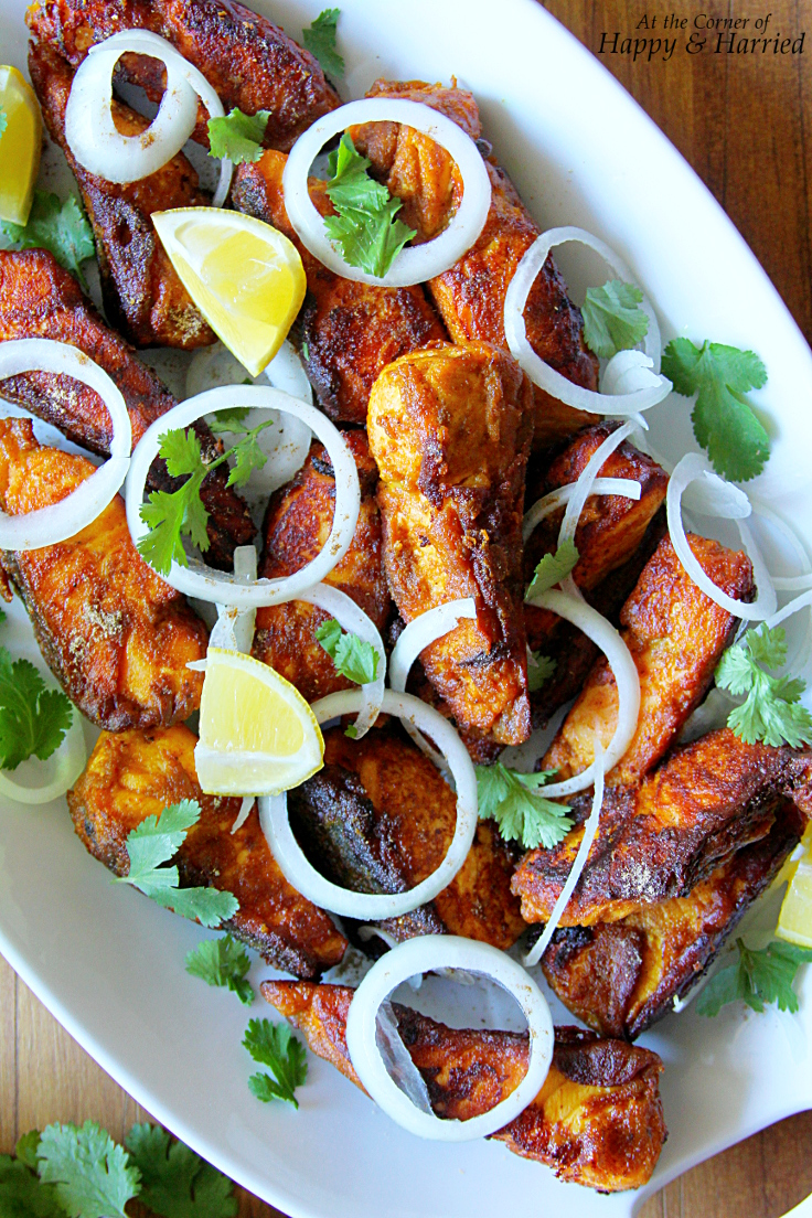Spicy And Tangy Amritsari Fish Fry (With Salmon Steak)
