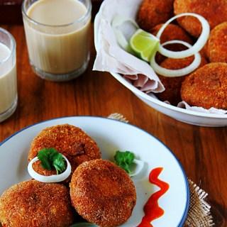 Chicken Cutlets {Indian Chicken Croquettes}